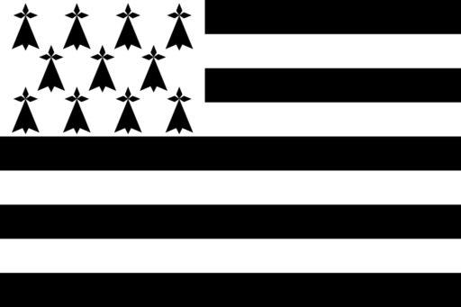 הדגל של מחוז ברטאן - מקור: ויקיפדיה.