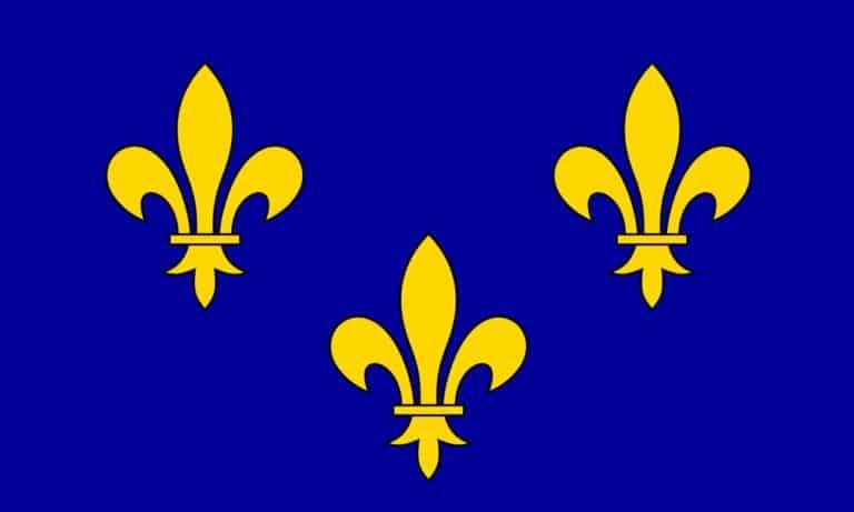 הדגל של מחוז איל דה פראנס. מקור: ויקיפדיה