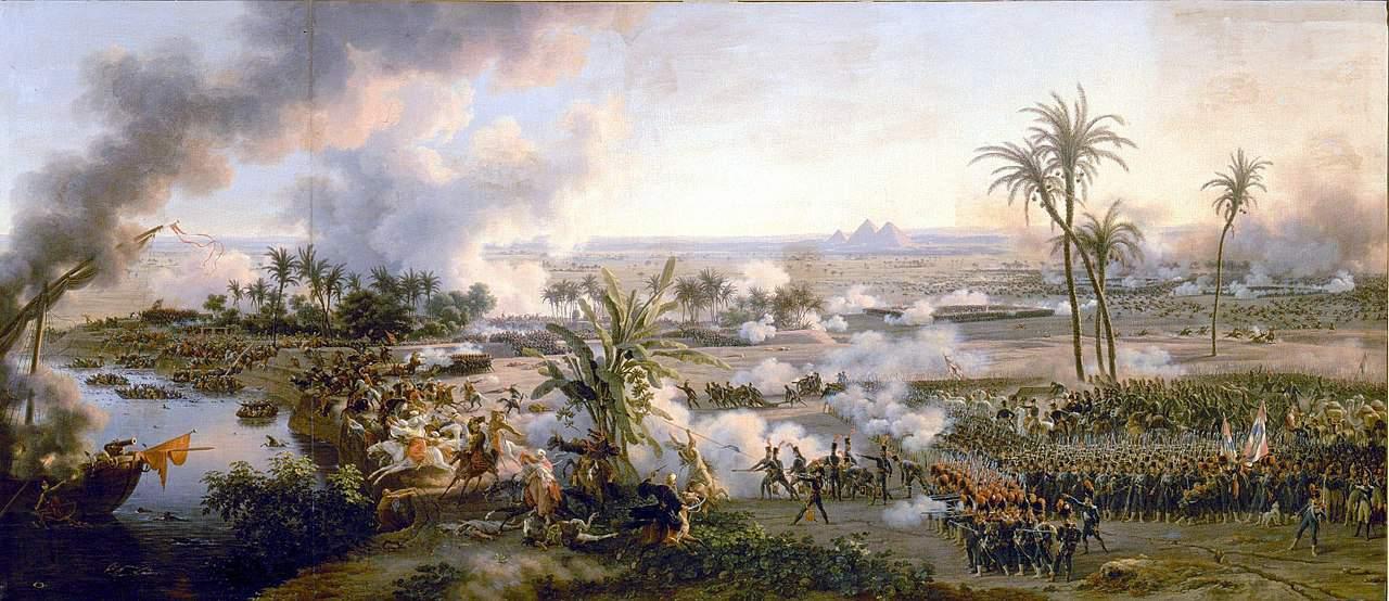 קרב הפירמידות. ציור מאת לואי פרנסואה לז'ן. מקור תמונה: ויקיפדיה