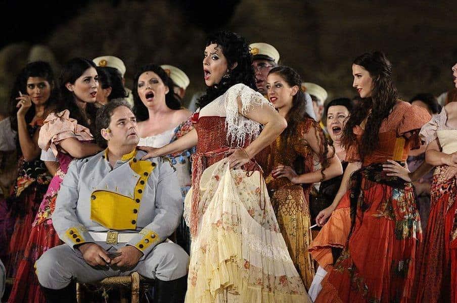 האופרה כרמן. אחת הדוגמאות לסיפור האהבה התרבותי בין צרפת לספרד. צילם: Yossi Zwecker