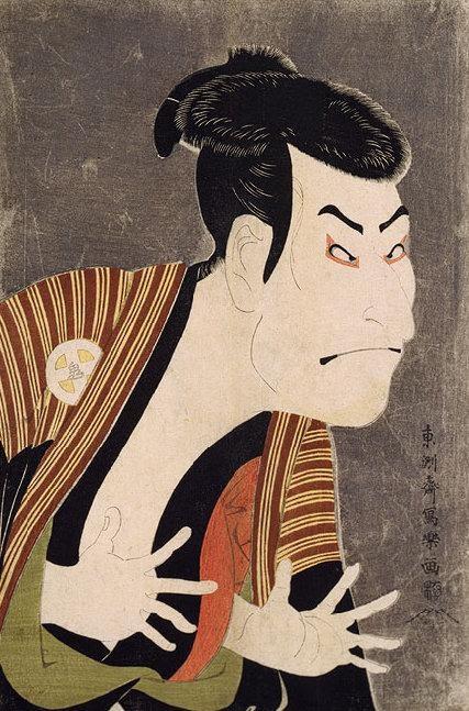 הדפס המתאר שחקןבתיאטרון. מקור תמונה: ויקיפדיה.