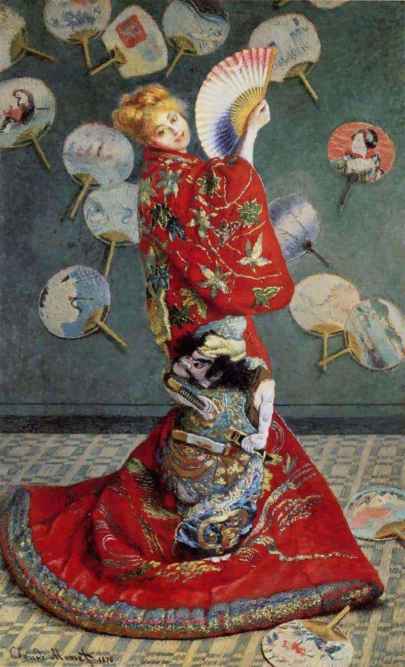 מאדאם מונה לבושה קימונו. מקור תמונה: ויקיפדיה.
