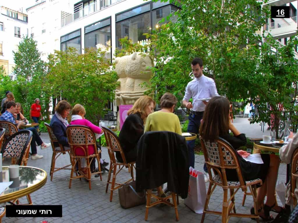 בית הקפה במתחם הבו פסאז'. צילמה: רותי שמעוני