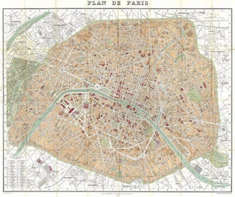 מפת פריז | רובעי פריז (מלונות, אטרקציות, מסעדות בכל רובע)