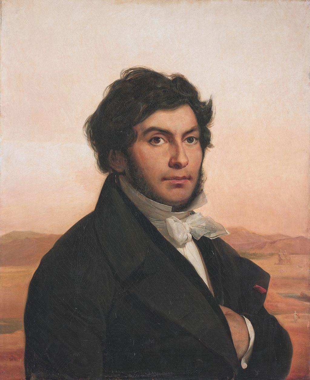ז'אן פרנסואה שאמפוליון. מקור הפורטרט מוזיאון הלובר.