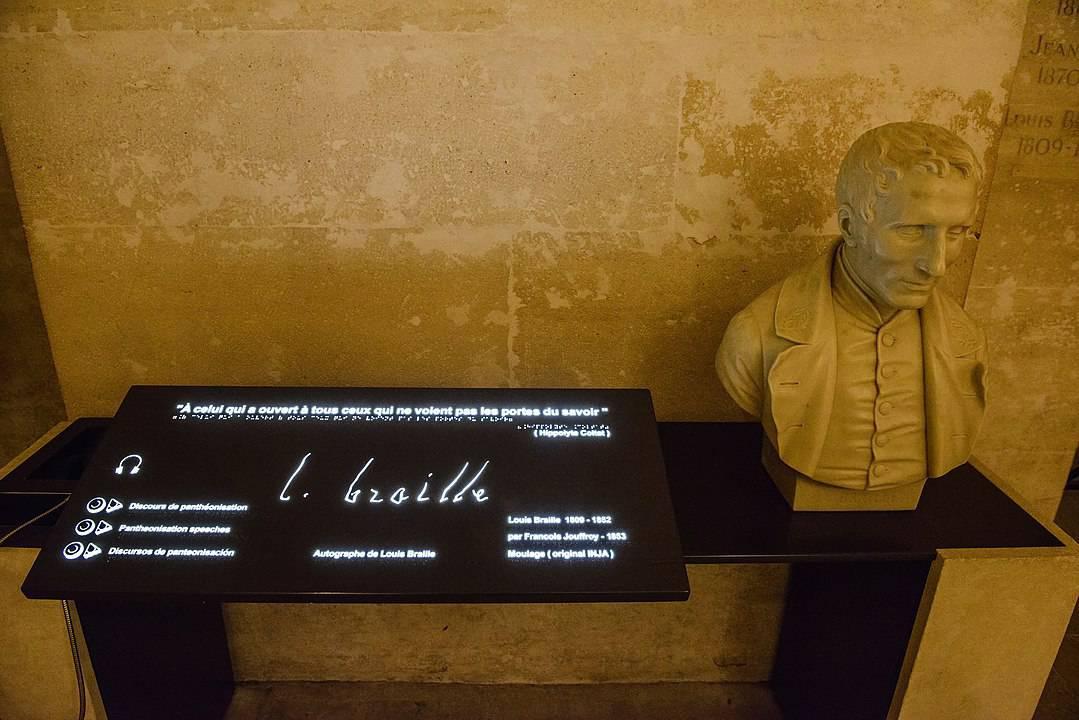 המונומנט לזכרו של ברייל בפנתיאון. צילם Son of Groucho. מקור צילום: ויקיפדיה