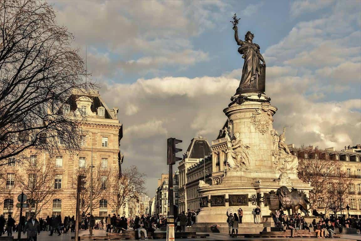 פסלה של מריאן המסמלת את הרפובליקה. צילום: יואל תמנליס