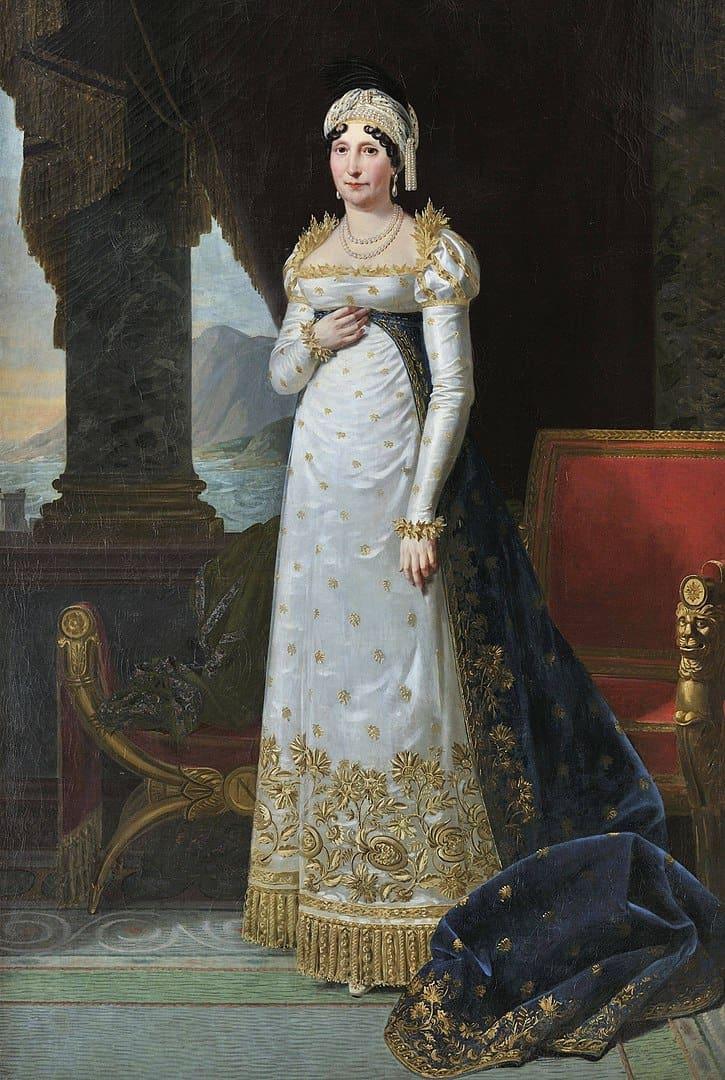 לטיציה רמולינו אמו של נפוליאון. ציור מאת רובר לפבר. מקור תמונה: ויקיפדיה.
