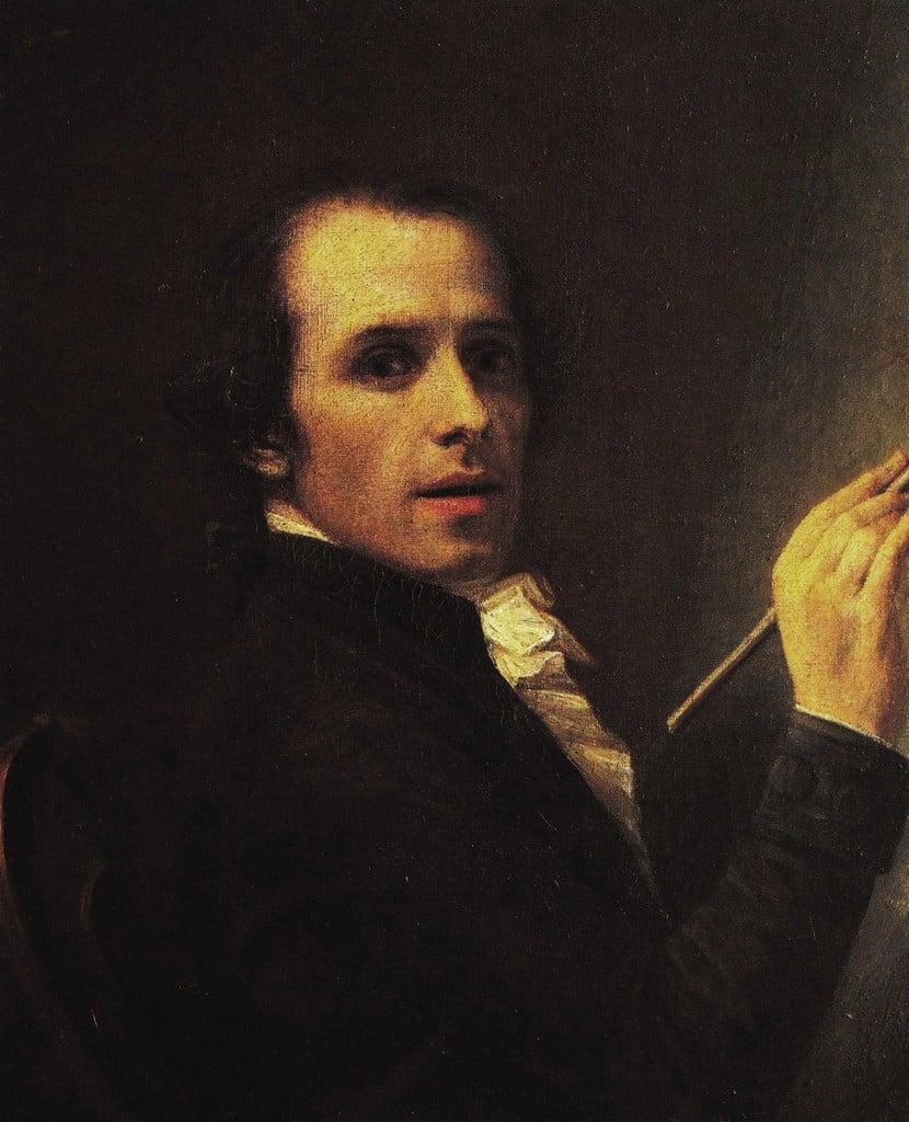 אנטוניו קנובה, דיוקן עצמי. מקור ציור: ויקיפדיה.