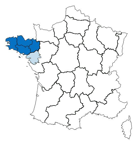 מיקומה של ברטאן בצרפת. מקור: ויקיפדיה.
