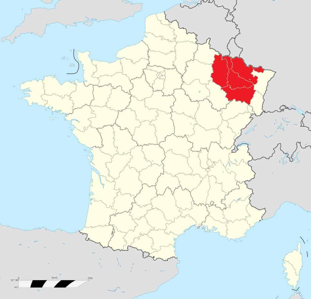 מיקומו של חבל לוריין בצרפת. מקור מפה: ויקיפדיה.