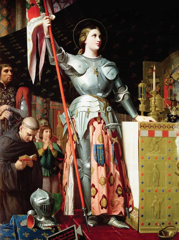 ז'אן ד'ארק בהכתרתו של שארל ה-7. ציור מאת אנגר (Ingres). מקור ציור: ויקיפדיה.