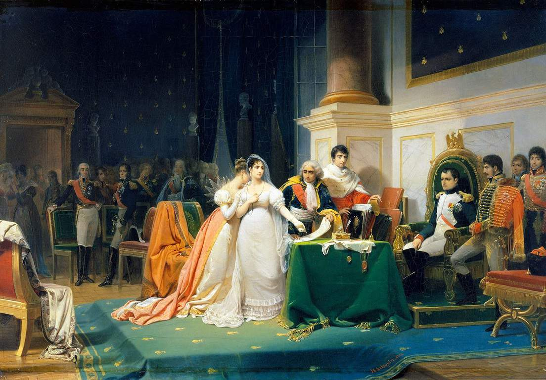 ז'וזפין ונפוליאון מתגרשים. מקור תמונה: ויקיפדיה.