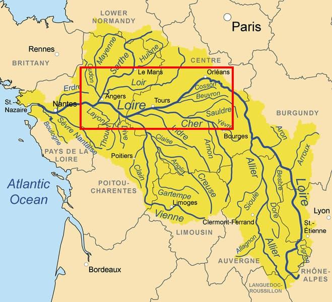 מפת עמק הלואר
