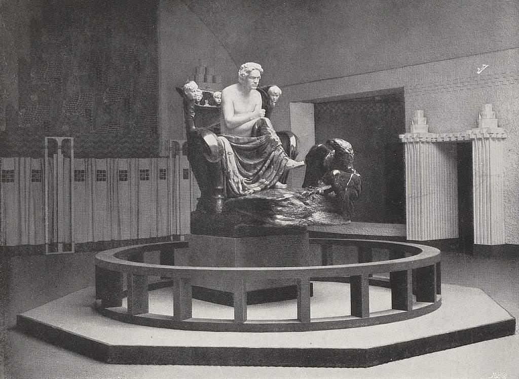 """""""בטהובן"""" בתערוכת הזצסיון (מקור צילום: ויקיפדיה)"""