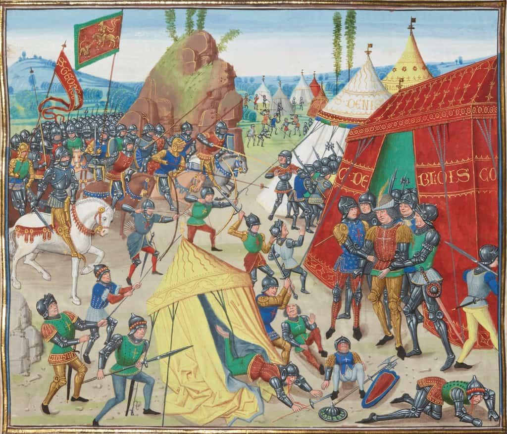 נפילתו בשבי של שארל דה בלואה. מקור תמונה: ויקיפדיה.