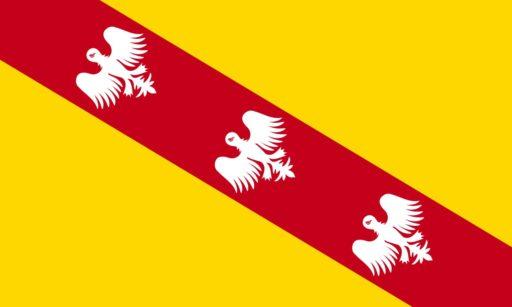הדגל של מחוז לוריין. מקור: ויקיפדיה.