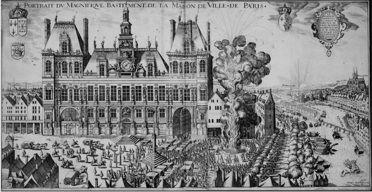 ההוטל דה ויל החדש בשנת 1610 (סמוך לפתיחתו). מקור תמונה: ויקיפדיה.