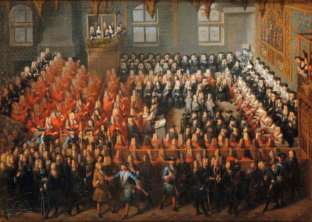 הפרלמנט של פריז בתקופת לואי ה-15. מקור תמונה: ויקיפדיה.