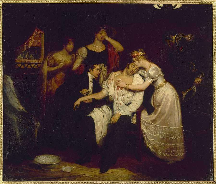 מותו של הדוכס דה ברי. מקור תמונה: ויקיפדיה.