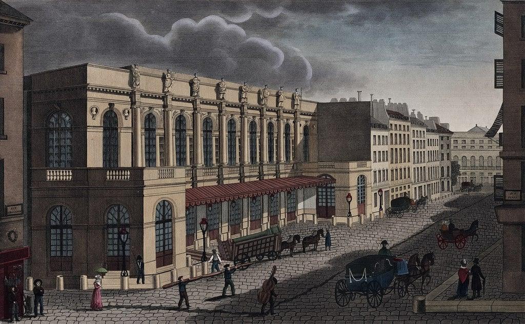 בניין האופרה ברחוב Le Peletier. מקור תמונה: ויקיפדיה.