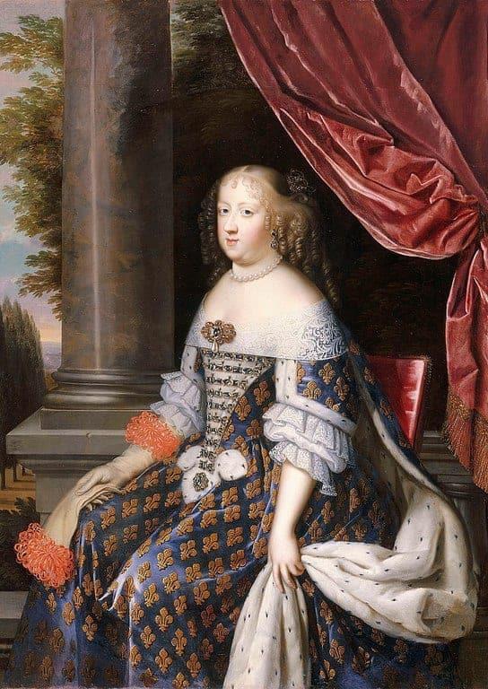 מאריה תרזה מאוסטריה. אשתו של לואי ה-14. מקור תמונה: ויקיפדיה.