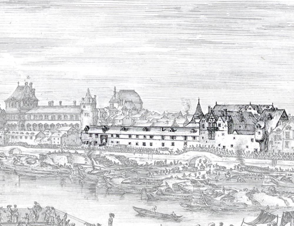 ציור של ארמון הפטי בורובון (Petit Bourbon). מקור ציור: ויקיפדיה.
