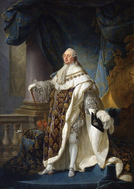 לואי ה-16 בלבוש ההכתרה. צייר: אנטואן פרנסואה קאלה. מקור ציור: ויקיפדיה.