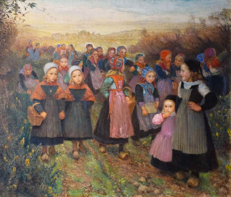 אמיל אוגוסט וֶרִי, חזרה מבית הספר בפְּלוּגֶסְטָל, המוזיאון לאמנויות יפות של רנס, 1898
