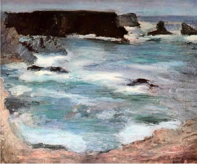 סלעים בבֵּל-אִיל, אוסף פרטי, 1896.