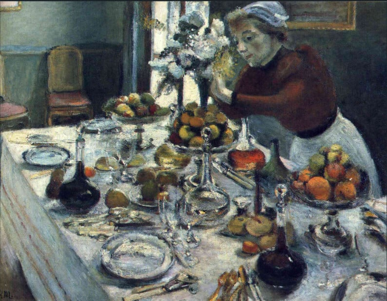 שולחן ערוך לארוחת ערב, אוסף פרטי, 1897.