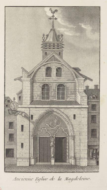 החזית של כנסיית המדלן הישנה.