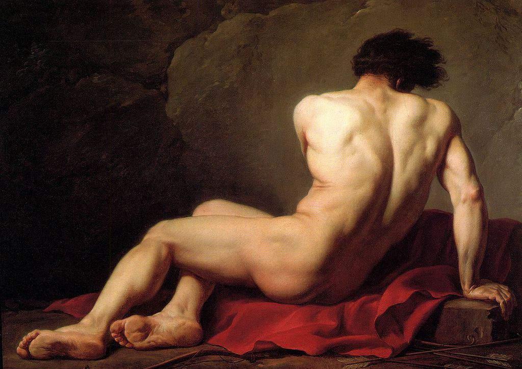 פטרוקולוס מאת ז'אק לואי דויד (1780).