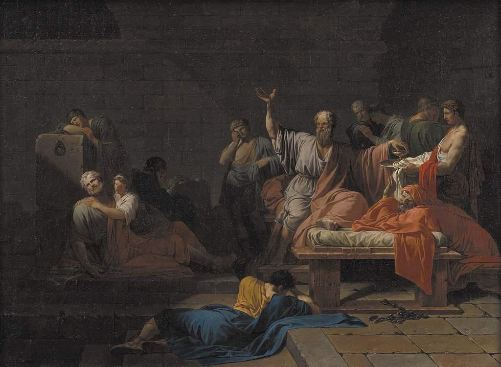 מות סוקרטס מאת ז'אן-פרנסואה פייר פיירון (1787)