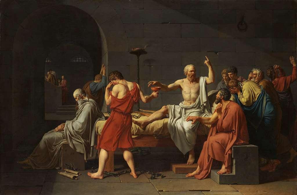 מות סוקרטס מאת ז'אק לואי דוד (1787)