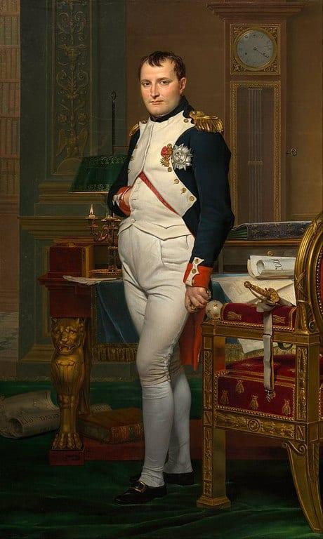 נפוליאון בחדר העבודה שלו (1812). פורטרט מאת ז'אק לואי דוד.