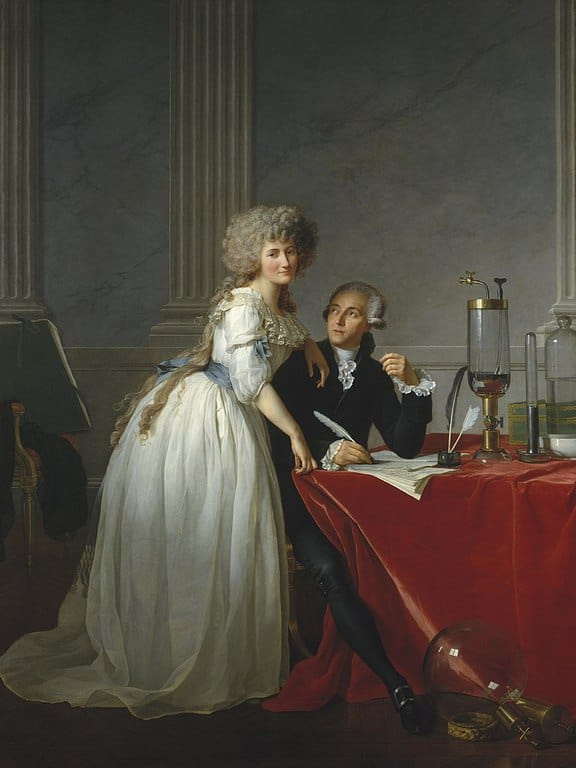 פורטרט של לבואזייה ואשתו מאת ז'אק לואי דויד (1789).