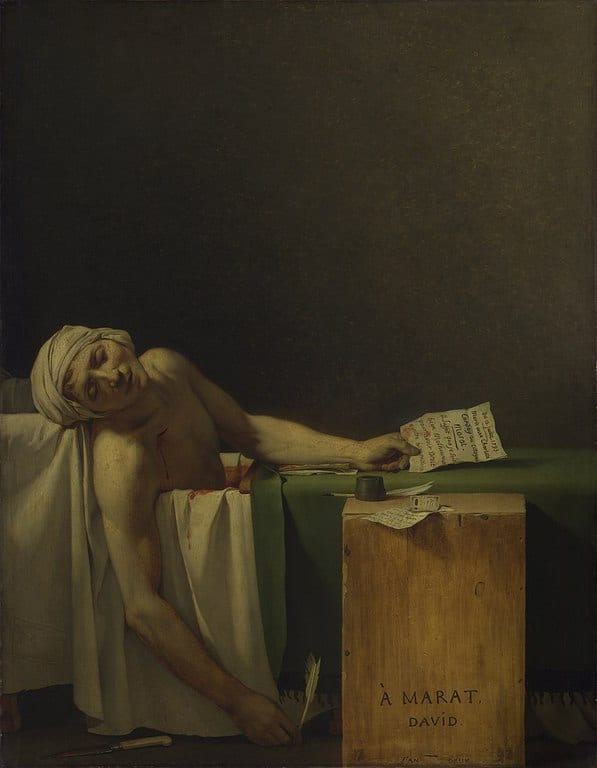 מות מארה מאת ז'אק לואי דויד (1793)