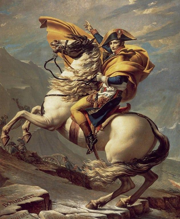 נפוליאון חוצה את האלפים מאת ז'אק לואי דויד