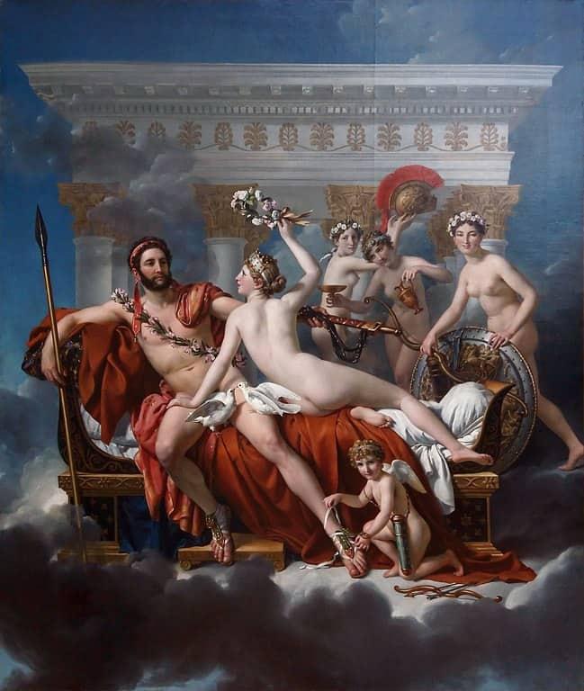 מארס, המובס בידי ונוס ושלושת הגרציות (1824) מאת ז'אק לואי דויד