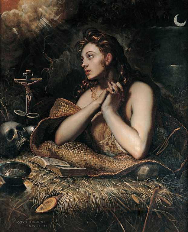 מריה מגדלנה. ציור מאת דומניקו טינטורטו (1560-1635)
