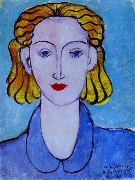 אישה צעירה בחולצה כחולה, מוזיאון ההרמיטאז', סנט פרטרסבורג, 1939