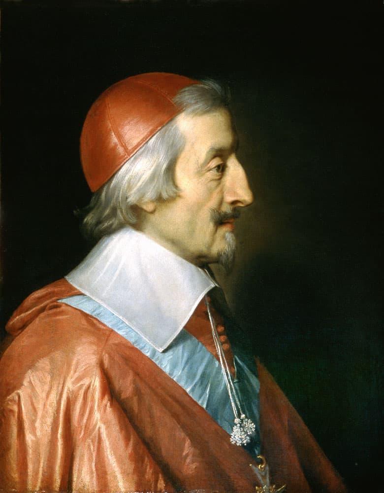 פורטרט של קרדינל רישלייה שצוייר מספר חודשים לפני מותו.