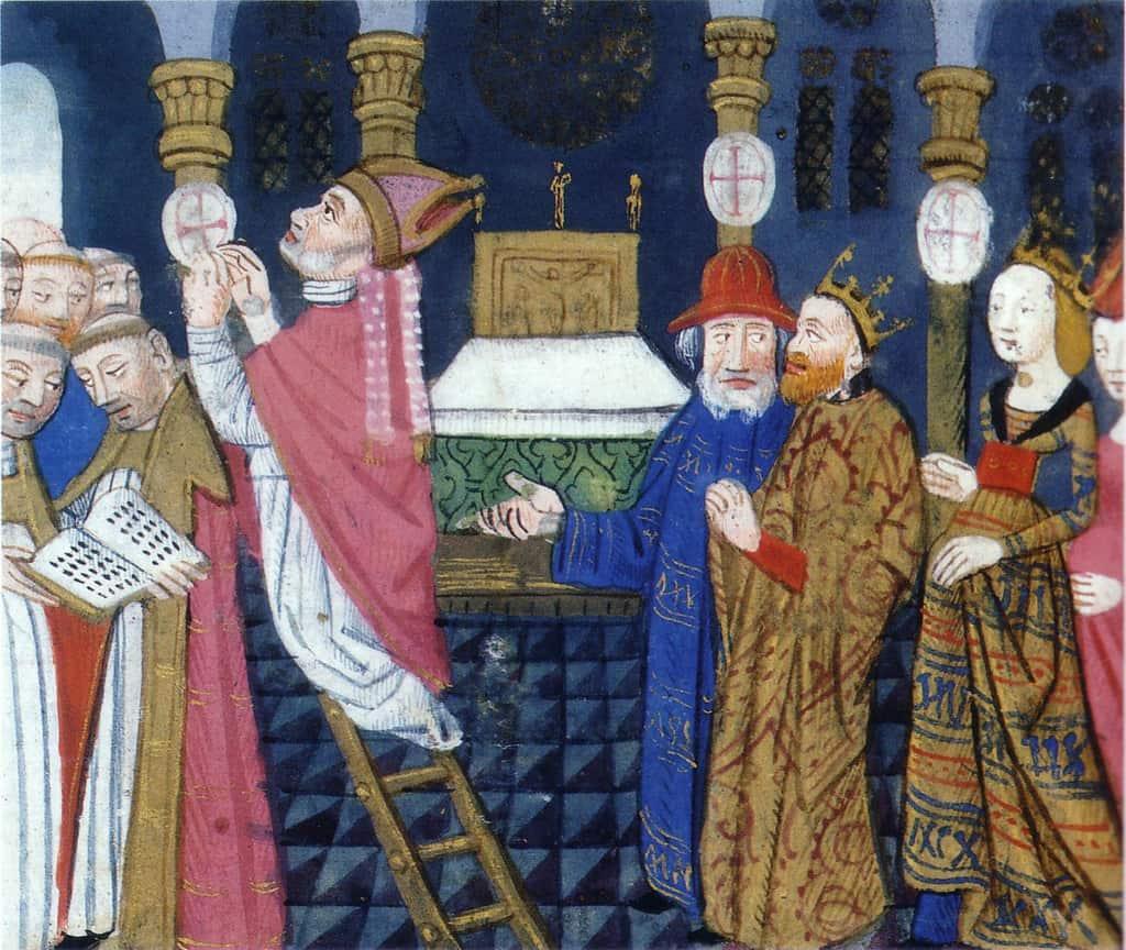 המלך שילדבר ה-1 חונך את כנסיית סן ז'רמן דה פרה