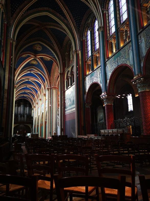 כנסיית סן ז'רמן דה פרה, מבט מבפנים. צילם: צבי חזנוב