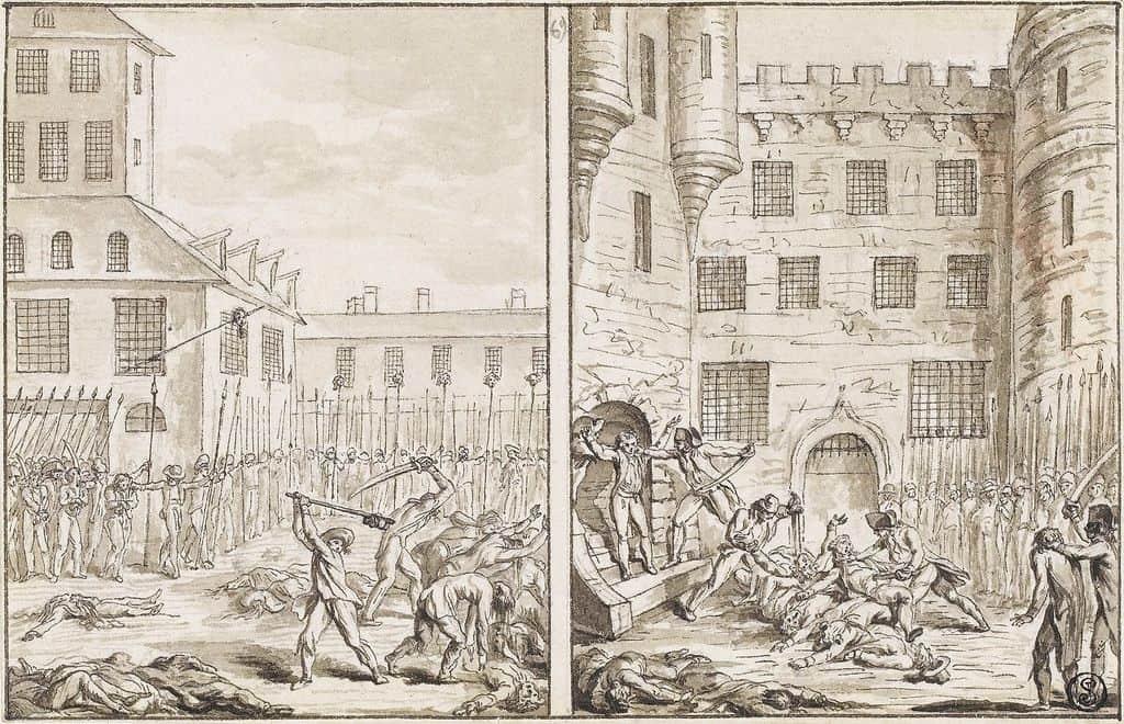 הטבח בבית הכלא של מנזר סן ז'רמן ב-2 בספטמבר 1792.