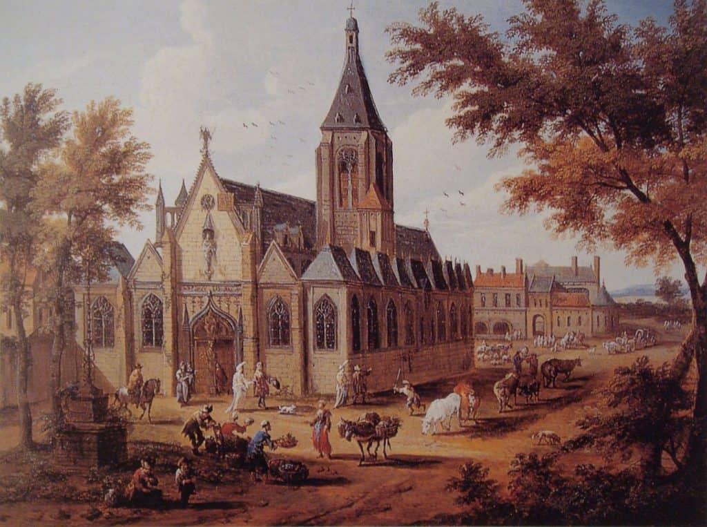 כנסיית סן סולפיס הישנה. ציור מהמאה ה-17.