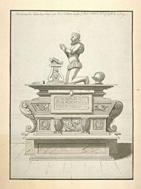 האנדרטה שהקים אנרי השלישי לזכר חברו שמת בעקבות פצעים שספג בדו קרב