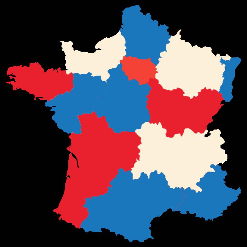 מפת צרפת