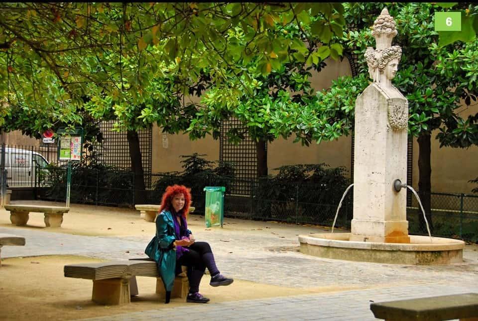 המזרקה שממוקמת כיום בכיכר גבריאל פיארנה. צילום: אילן שמעוני